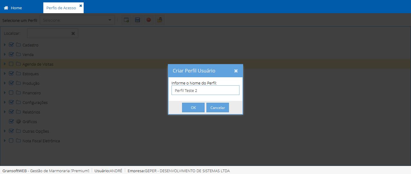 Cadastrando Usuários e definindo Permissões de Acesso